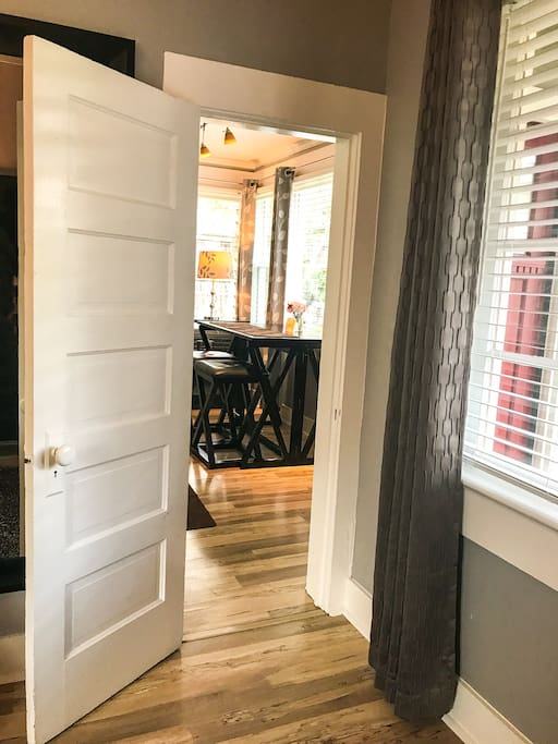 Door to second bedroom