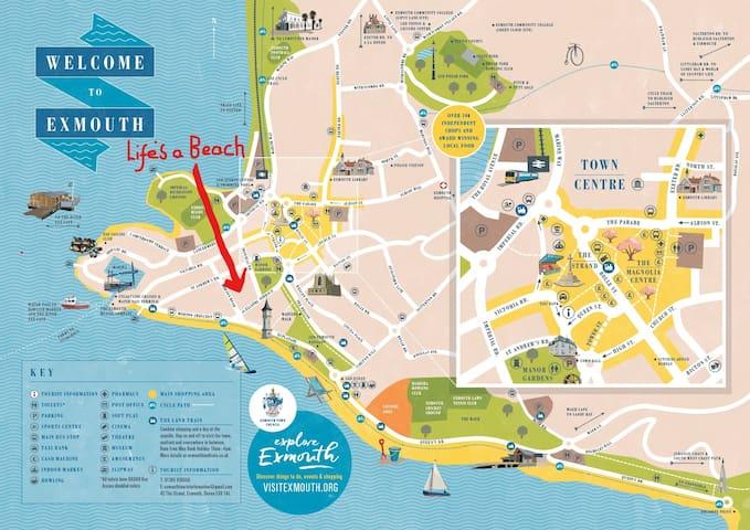 Life's a Beach, 2 minutes walk from Exmouth beach