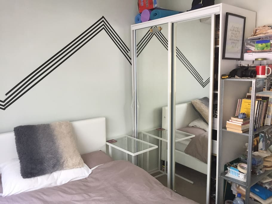 Mirrored closet and storage space available