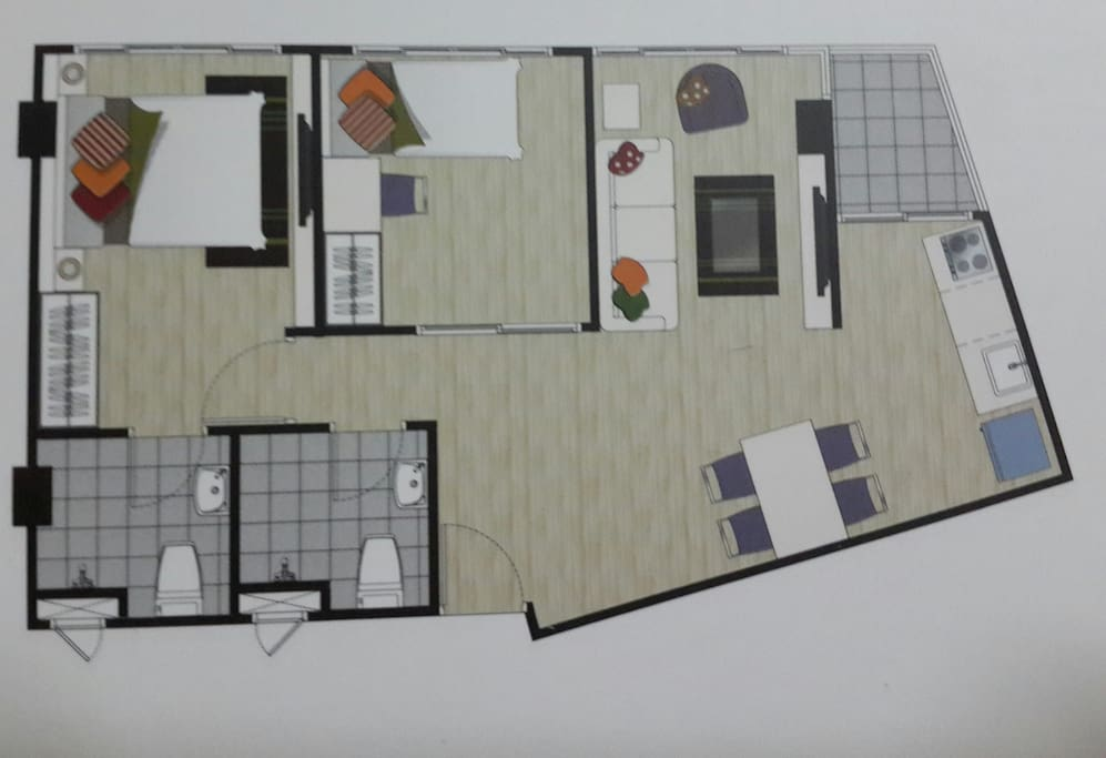 Floor plan (no table and chairs)
