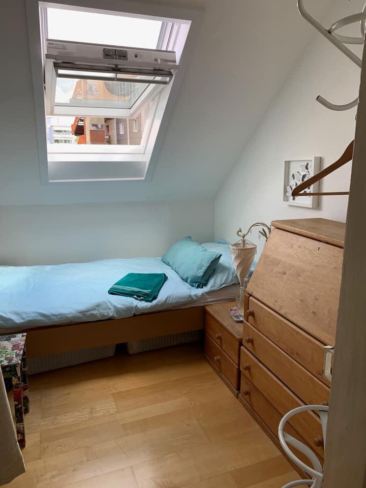 Tiny room...