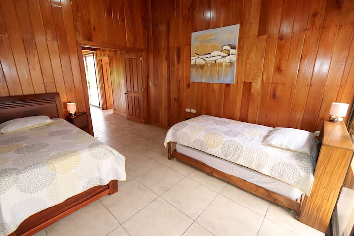 Bedroom #2 features two trundle beds which have pull out beds located underneath. Four twin mattress in total.