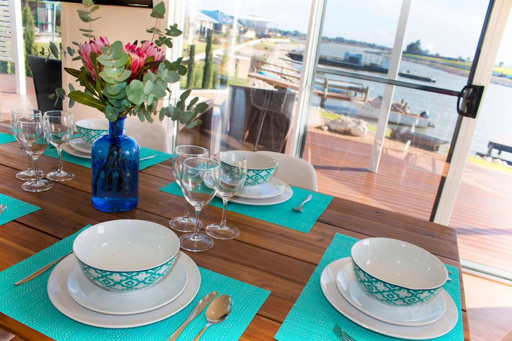 Enjoy breakfast on the water with comfort