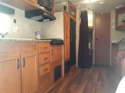 Camp on the farm in this beautiful 30 feet camper