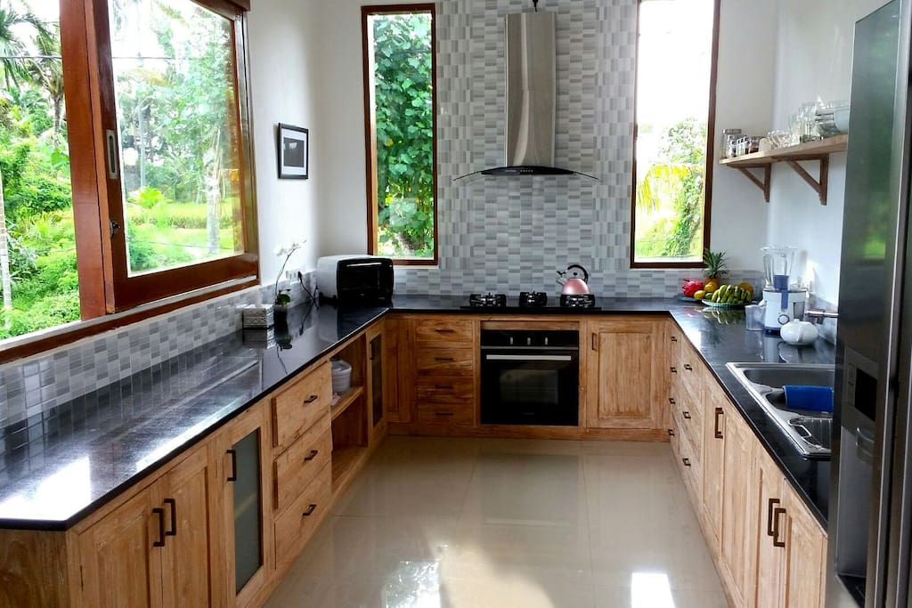 Our spacious fully equipped kitchen