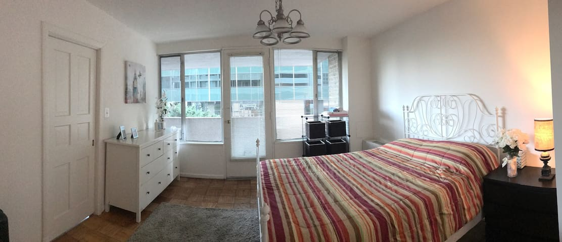 Spacious room in great location close to metro - 阿靈頓 - 公寓