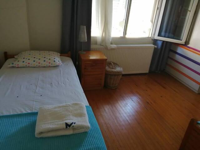 Bedroom 2 beds. New bedding.