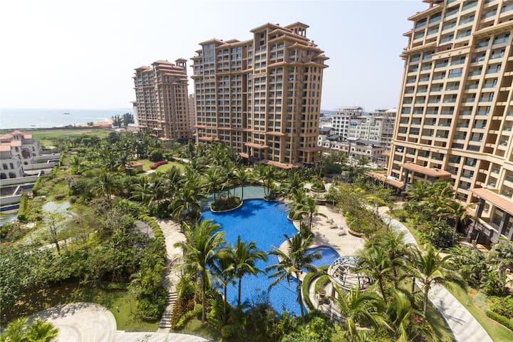 屋内看海,1公里海岸线,面朝中南海,国际享乐标准度假休闲豪华一居大床房D1