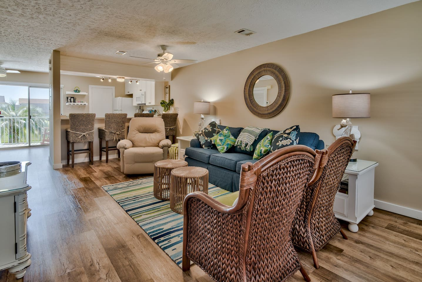 Brand new renovations and furniture. Plenty of room for you and the family to spread out.