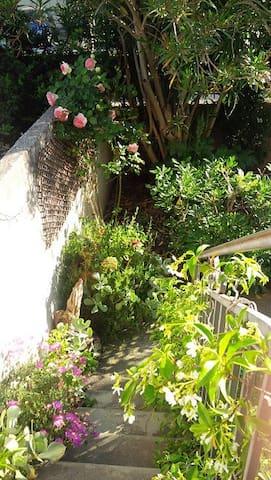 Chambre 2 pers maison années 30 vue jardin avant - Arles - House