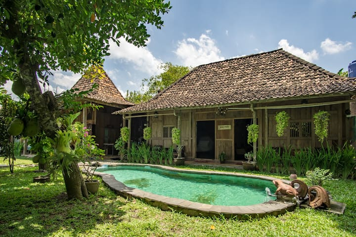 Chic Villa with Artistic Old Javanese Design