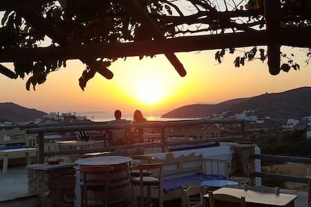 Triple Studio with sea view - Κατάπολα - Szoba reggelivel