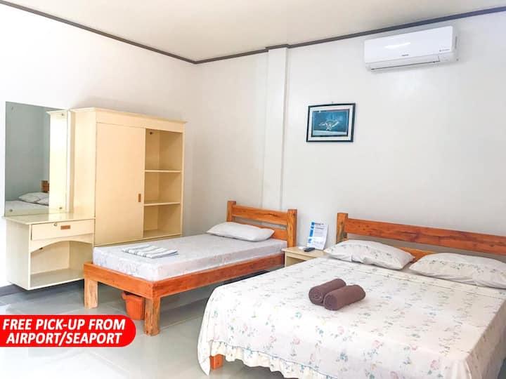 NEW CLEAN ROOM Near Alona Beach (RM102)