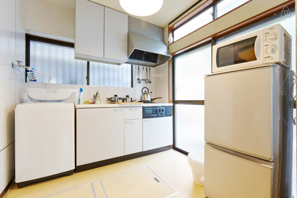 microwave, refrigerator in the  Kitchen