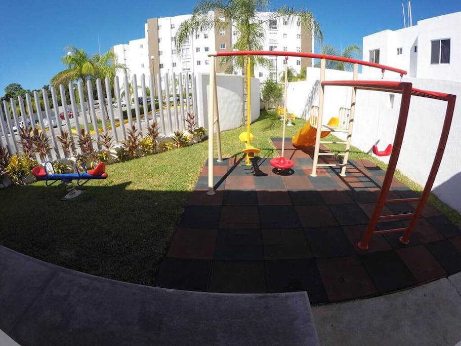 if you have kids this is the perfect place  to have fun, its next to the swimming pool .