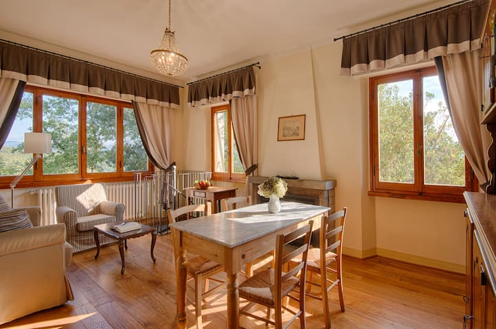 Sunny apartment on wine farm - GREVE IN CHIANTI - Apartemen