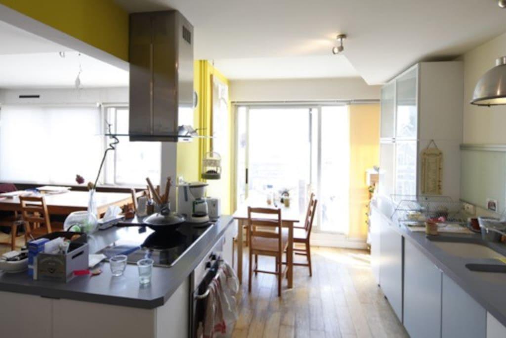 Loft familial avec terrasse appartements louer paris for Loft avec terrasse paris