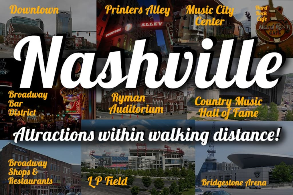 Within very short walking distance of all of these great attractions and a lot more.