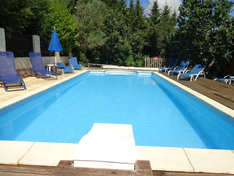 Cool down in our swimming pool in the summer months