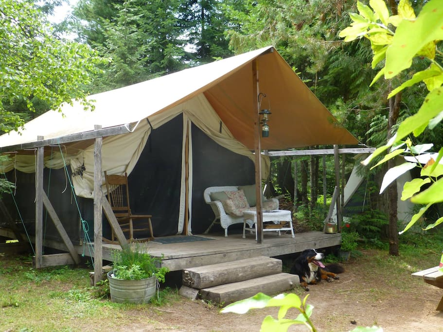 Private, wilderness camping. Only 3 tent sites on 52 acres.