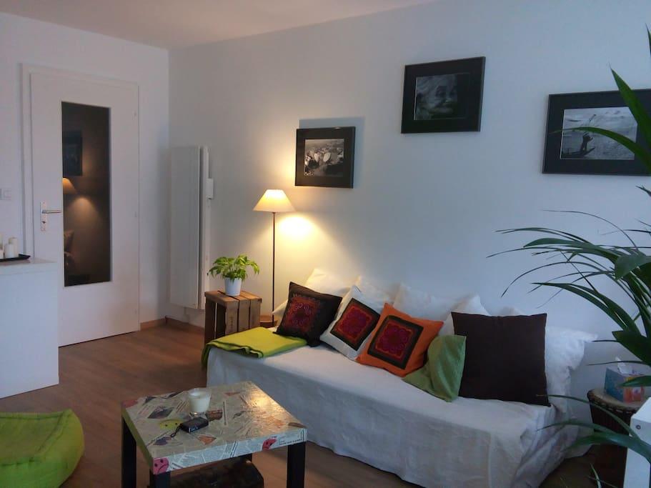 cosy studio 37m strasbourg avec parking bed breakfasts for rent in strasbourg alsace. Black Bedroom Furniture Sets. Home Design Ideas