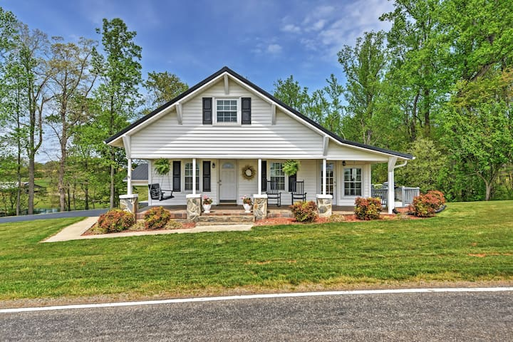 Dobson Farmhouse w/ Wraparound Porch & Fire Pit!