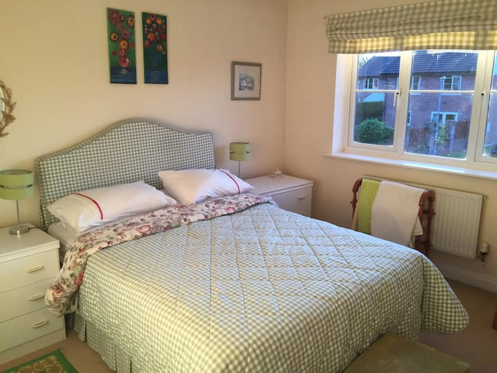 Comfortable double bed with ensuite