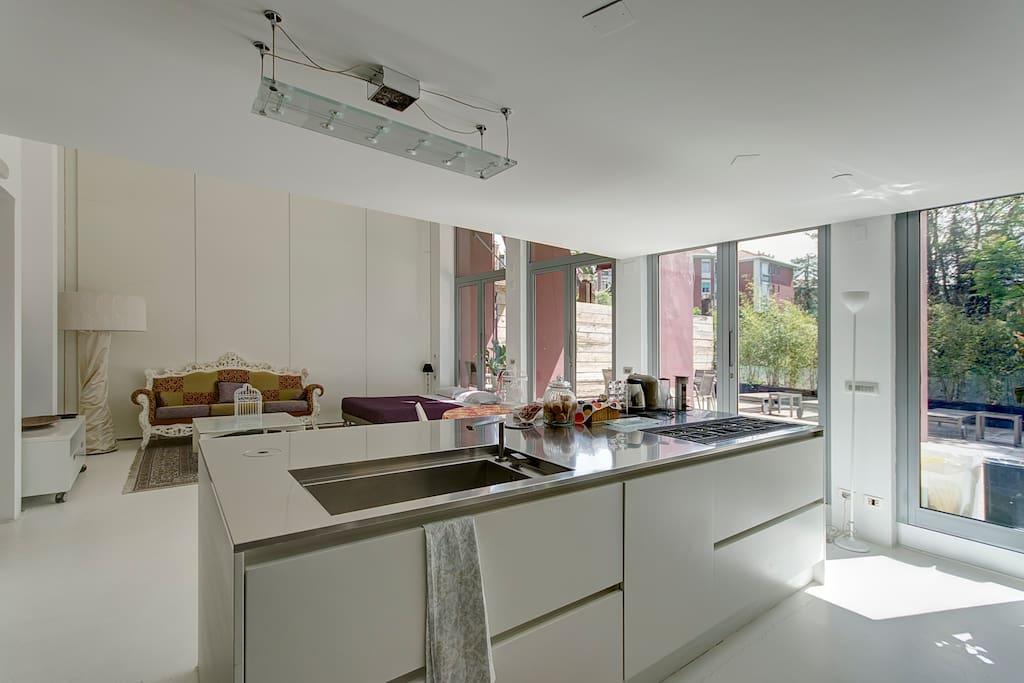luxury loft milan lofts zur miete in mailand milano italien. Black Bedroom Furniture Sets. Home Design Ideas
