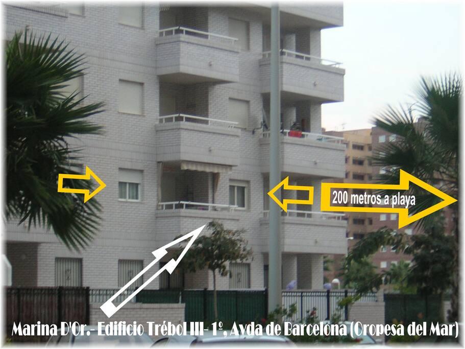 Apartamento en Edificio Trébol III a 200 metros Playa les Amplaries