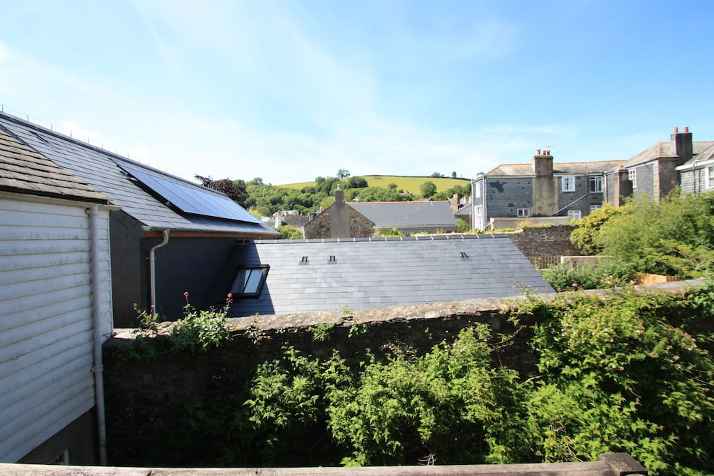 View across the rooftops to Windmill hill