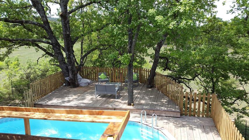 Maison, terrasse sur pilotis et piscine chauffée - Mirabeau - 一軒家