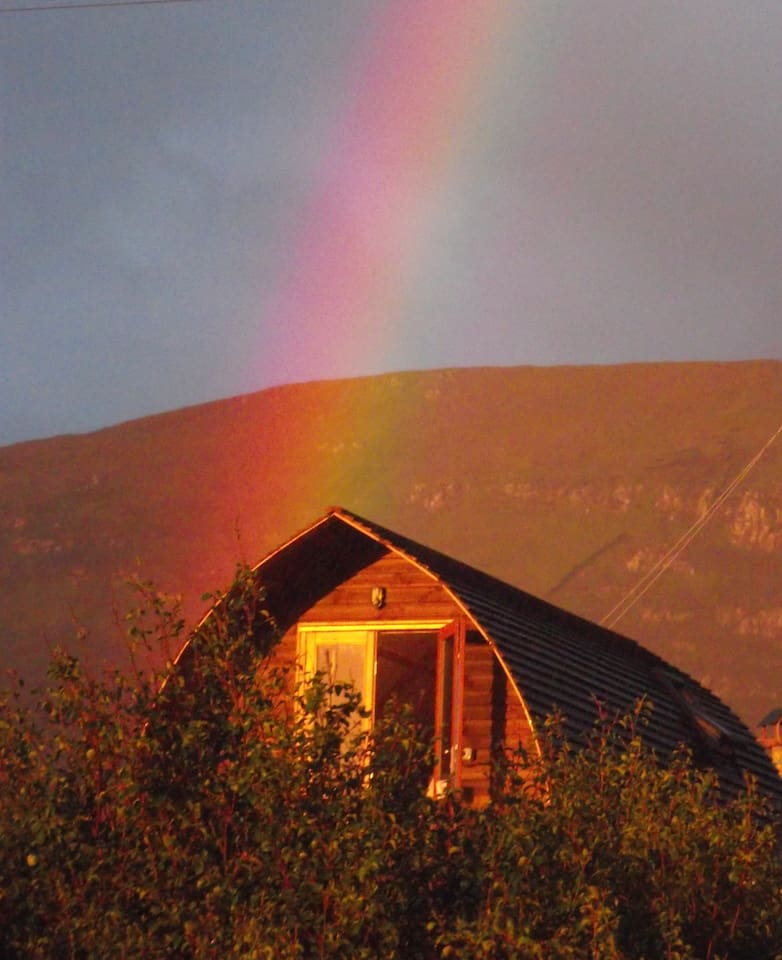 Rainbow over Ensuite 2.