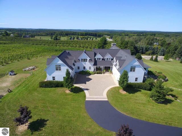 Leelanau County wine country custom home