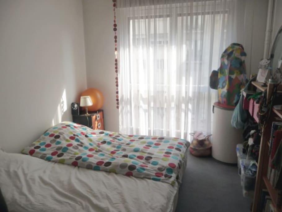 Chambre lits jumeaux réunis pour plus de confort