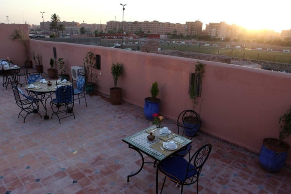 Chambre triple riad mouni marrakech chambres d 39 h tes for Chambre d hotes marrakech