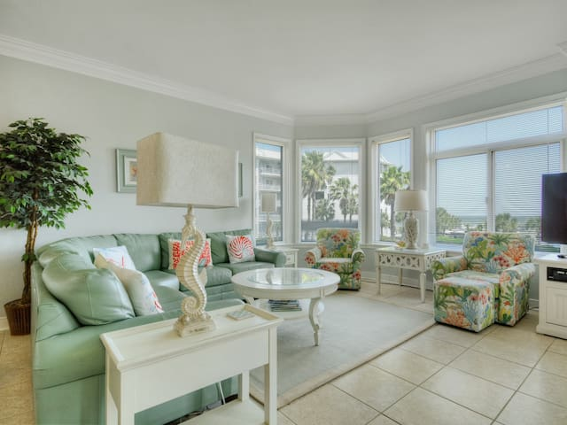 Living Room with Ocean Views at 1206 SeaCrest