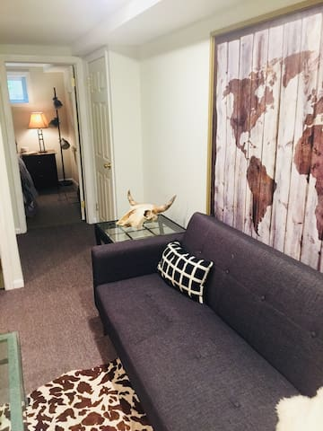 Beautiful bsmnt 1 BR apt , with W/D.