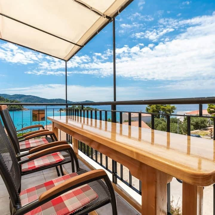 Apartments Fran-Two Bedroom Apartment with Balcony and Sea View