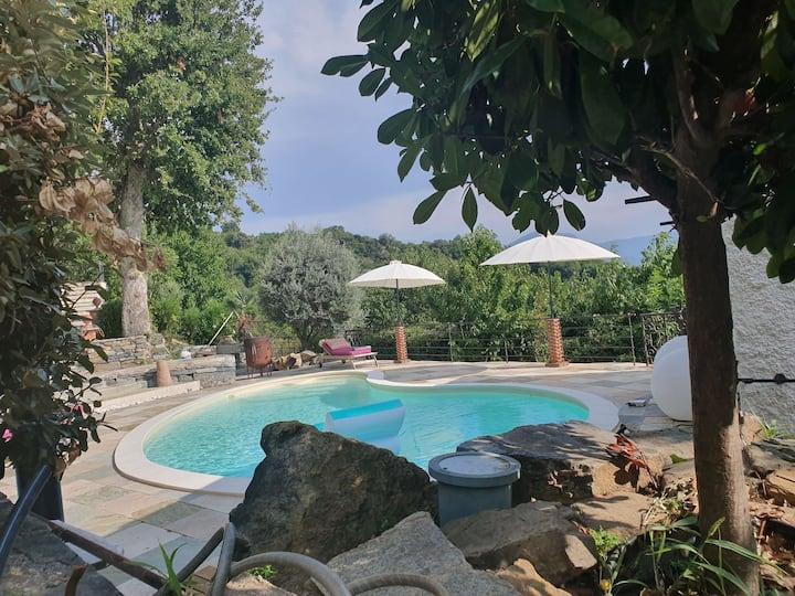 Maisondecharme avec piscine et vue exceptionnelle