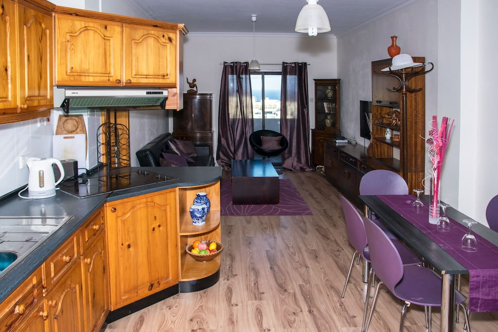Fully-equipped kitchen for self-catering.