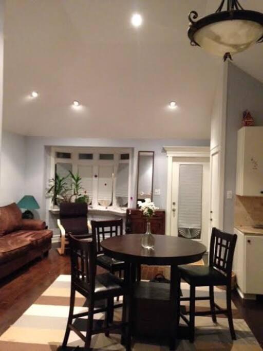Living, dining room