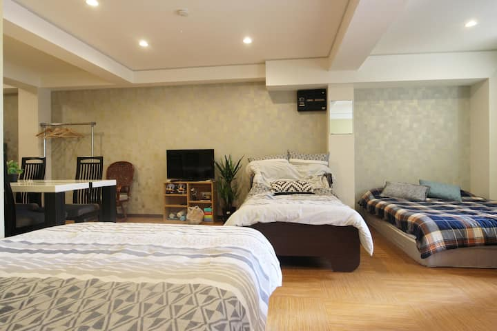 Barrier-Free★Flat Room★No steps, Adjustable Bed