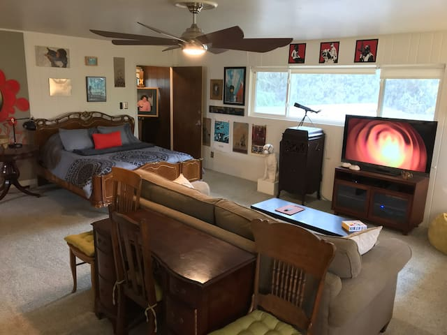 Contemporary Art & Antiques Themed Room