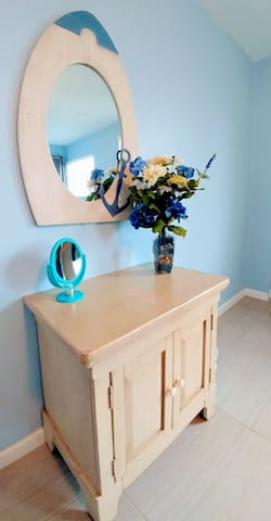 Make up stations in both rooms