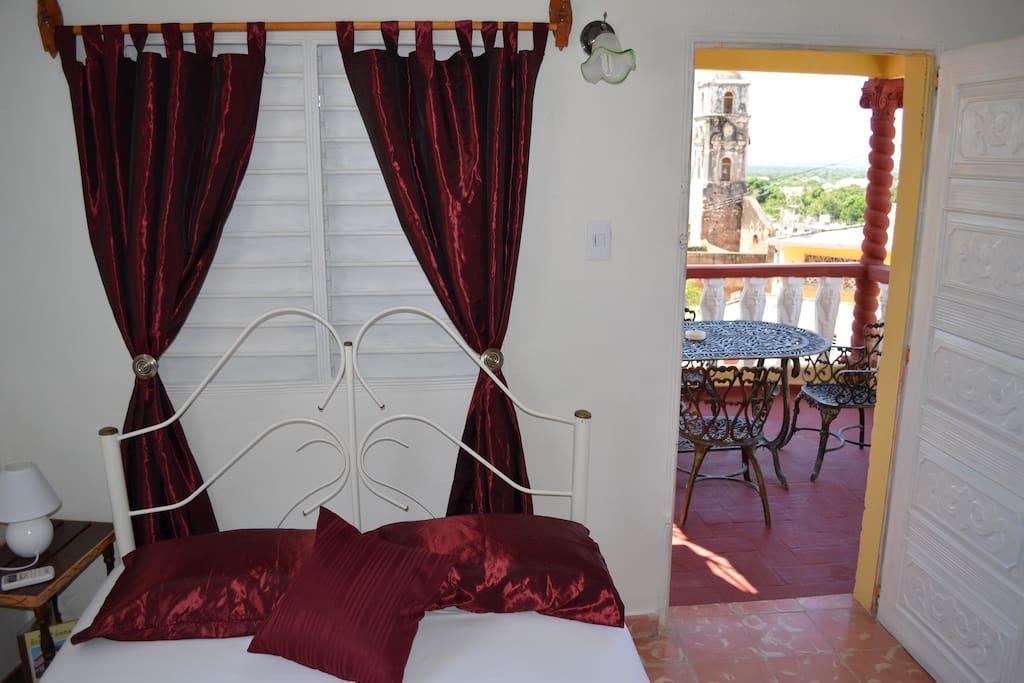 Room with door to terrace