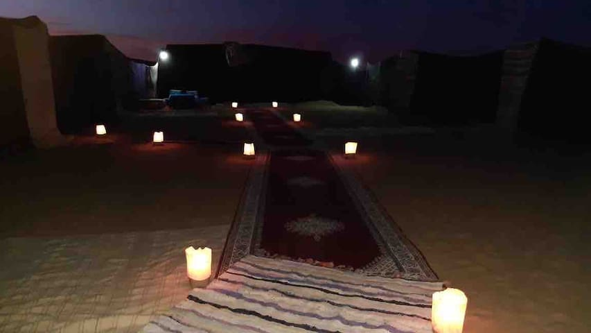 Merzouga camp and camel trekking experience. 17€