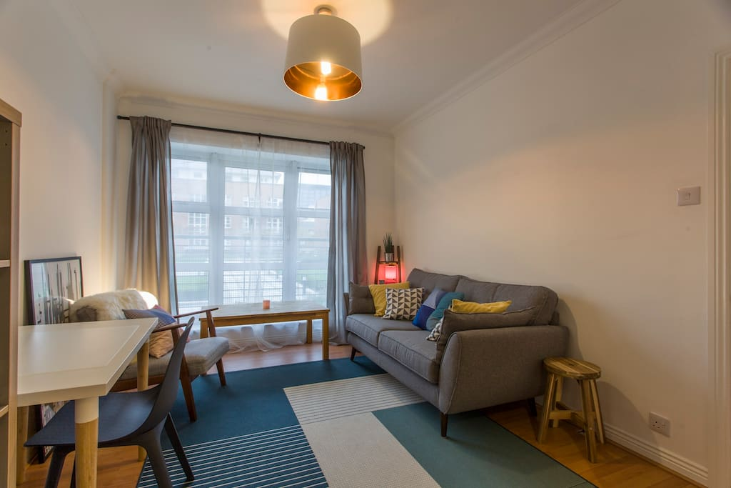 You will love chilling in our lovely bright living area.