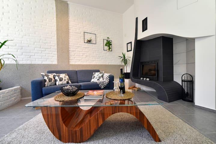 Luksuzan apartman s kaminom i terasom