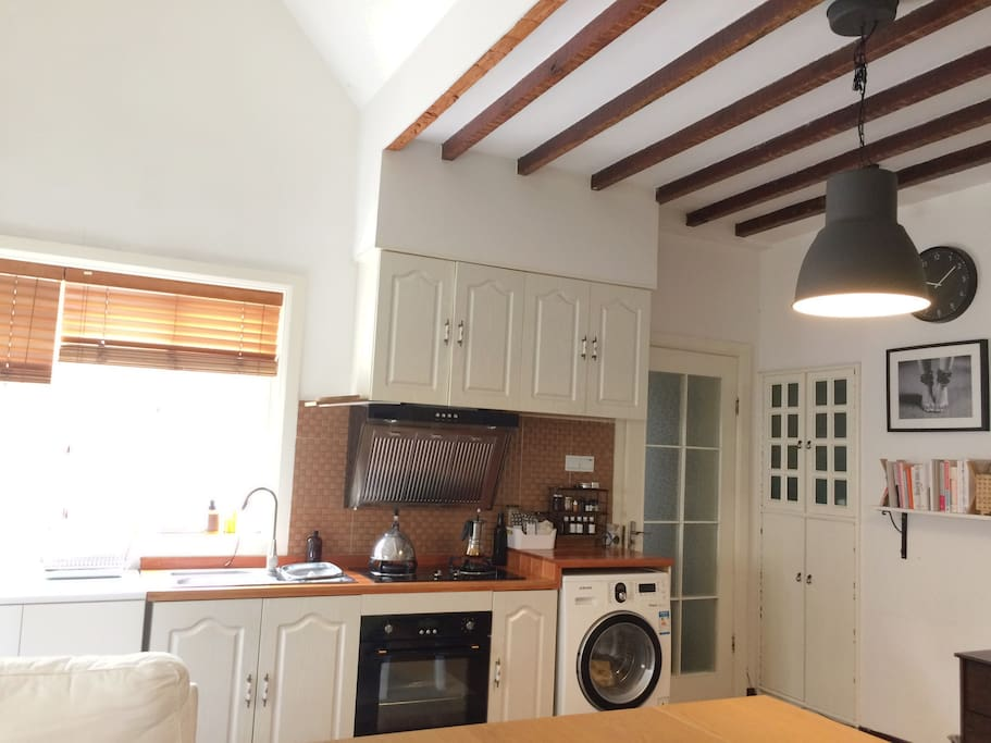 Open living and kitchen