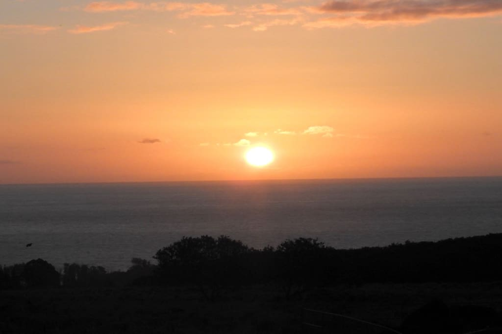 sunrise view over the ocean
